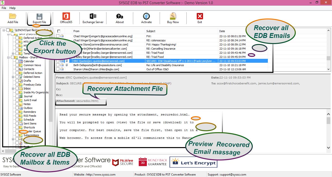 Download EDB to PST Converter Free Software